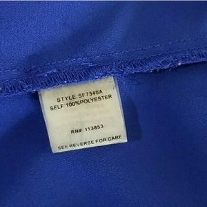 Brixon Ivy Tops - STITCH FIX Brixon Ivy royal blue blouse 3/4 sleeve